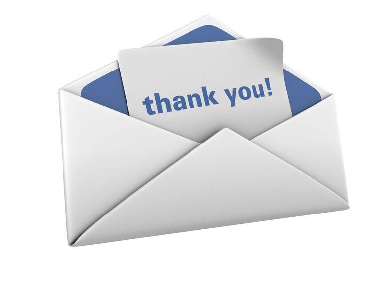 Các mẫu thư cảm ơn sau phỏng vấn bằng tiếng Anh
